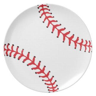Placa del béisbol del softball plato de comida