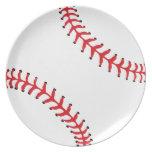 Placa del béisbol/del softball plato de comida