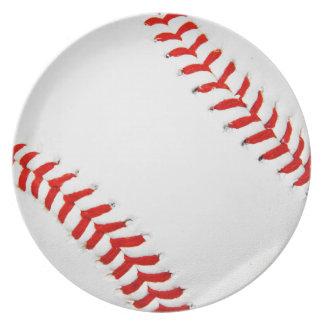 Placa del béisbol plato de comida