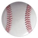 Placa del béisbol platos de comidas