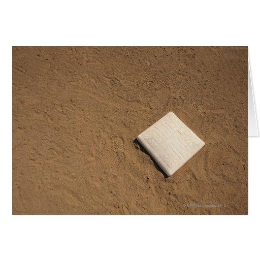 Placa del béisbol tarjeta de felicitación