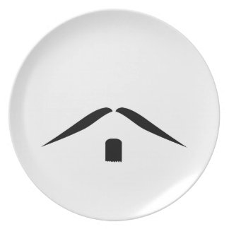 Placa del bigote platos de comidas