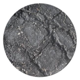 Placa del Blacktop Platos De Comidas