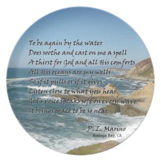 Placa del Bodega con el poema con la etiqueta del  Platos De Comidas