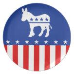 Placa del burro de Demócrata Plato Para Fiesta