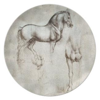 Placa del caballo de da Vinci Platos De Comidas