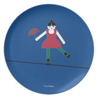 Placa del cable de alta tensión de Cirque de Martz Plato De Cena