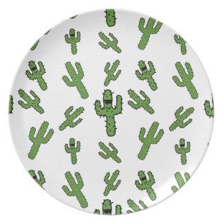 ¡Placa del cactus! Plato De Comida