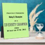 Placa del campeón de la diversidad