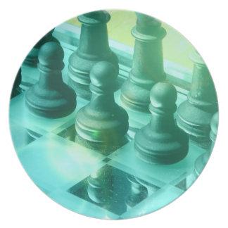 Placa del campeón del ajedrez plato