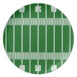 Placa del campo de fútbol plato