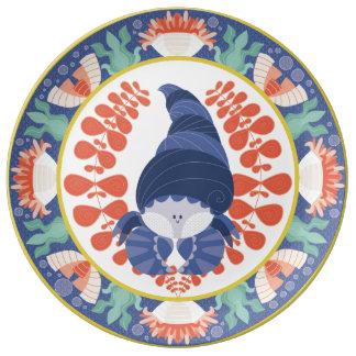 Placa del cangrejo de ermitaño plato de cerámica