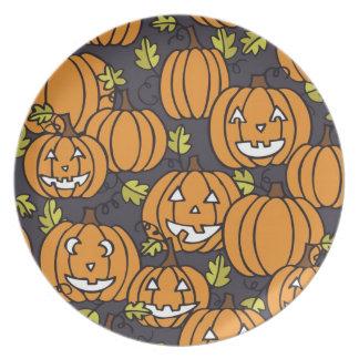 Placa del caramelo de Halloween del remiendo de la Platos Para Fiestas