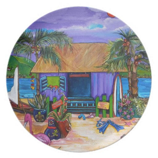Placa del Caribe Platos Para Fiestas