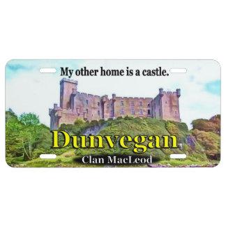 Placa del castillo de MacLeod Dunvegan del clan Placa De Matrícula