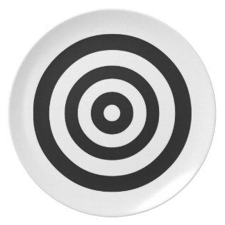 Placa del centelleo platos de comidas