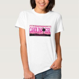 """Placa del chica de Carolina del Sur """"Carolina"""" Camisas"""