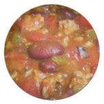 Placa del chile platos de comidas
