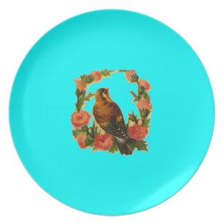 Placa del chirrido plato de cena