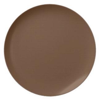 Placa del chocolate del panadero plato de comida