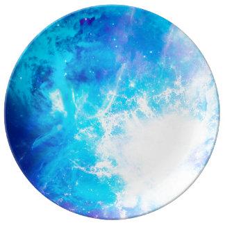 Placa del cielo de la creación plato de cerámica