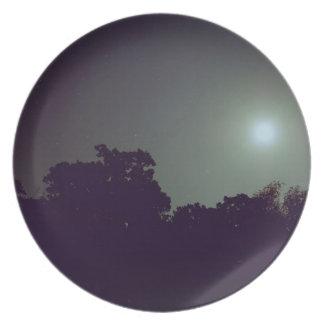 Placa del cielo nocturno plato