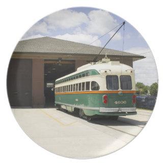 Placa del coche de la tranvía de Kenosha Platos