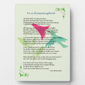Placa del colibrí