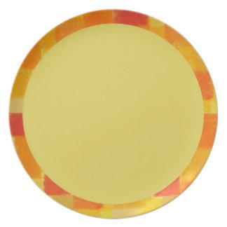 Placa del confeti del verano de 4 estaciones platos para fiestas