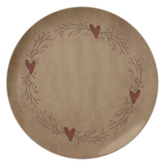 Placa del corazón de la baya de la pipa platos de comidas