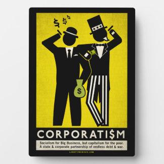 Placa del corporatismo