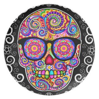 Placa del cráneo del azúcar del inconformista - dí plato
