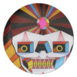 placa del cráneo del robot platos