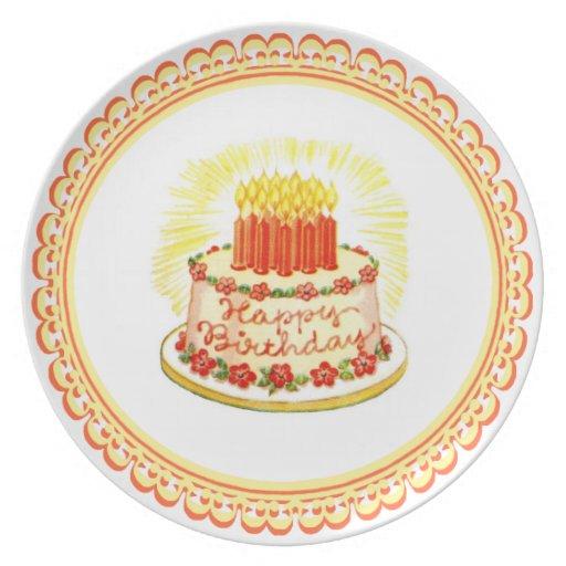Placa del cumpleaños de la melamina del diseño del platos para fiestas