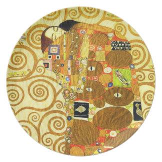 Placa del cumplimiento de Gustavo Klimt Plato Para Fiesta