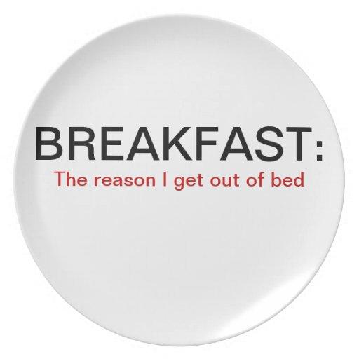 Placa del desayuno platos de comidas