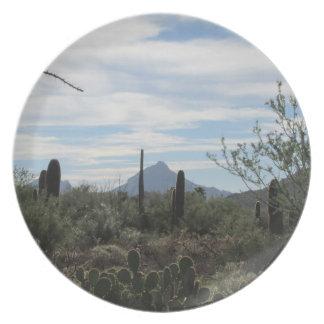 Placa del desierto de Tucson Platos