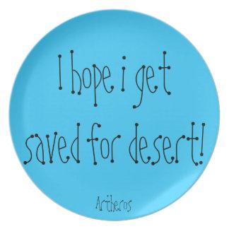 Placa del desierto plato para fiesta