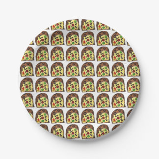 Placa del día de fiesta de la rebanada del platos de papel