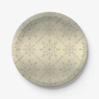 Placa del día de fiesta del navidad - brillo del plato de papel 17,78 cm