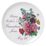 Placa del día de madres para la abuela plato de comida