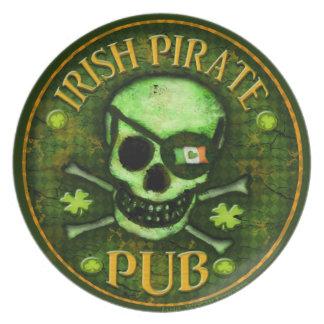 Placa del día del pirata de St Patrick irlandés de Plato De Cena
