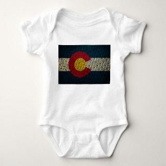 Placa del diamante de la bandera de Colorado Camisas