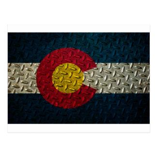 Placa del diamante de la bandera de Colorado Tarjeta Postal
