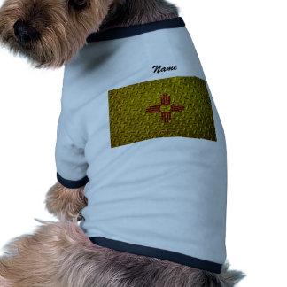 Placa del diamante de la bandera de New México Camisetas De Perrito