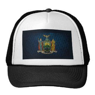 Placa del diamante de la bandera de Nueva York Gorros Bordados