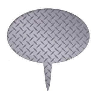 Placa del diamante del gris de acero