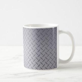 Placa del diamante del gris de acero taza clásica