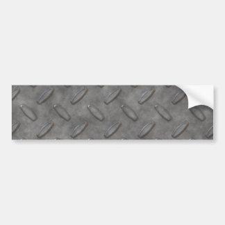 Placa del diamante del gris de plata texturizada pegatina para auto