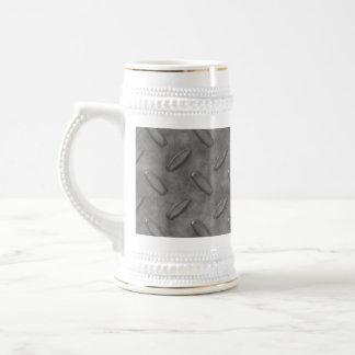 Placa del diamante del gris de plata texturizada tazas